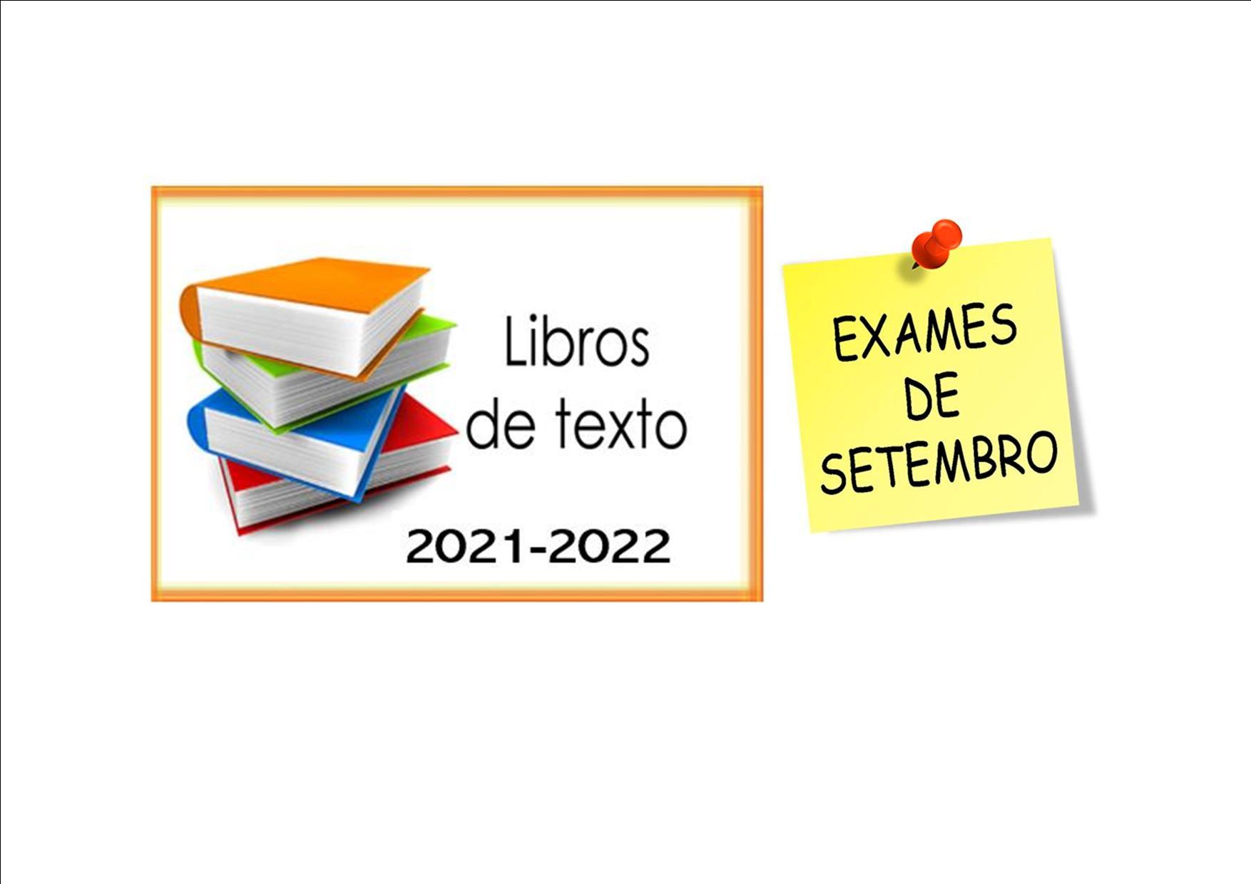 LIBROS DE TEXTO E PROBAS EXTRAORDINARIAS SETEMBRO
